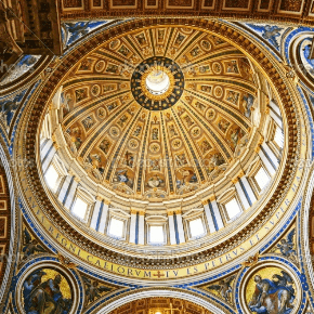 Inside dome of cathedral church