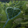 River shaped like heart