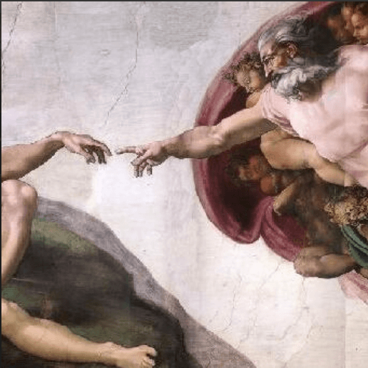 Michelangelos creation of Adam