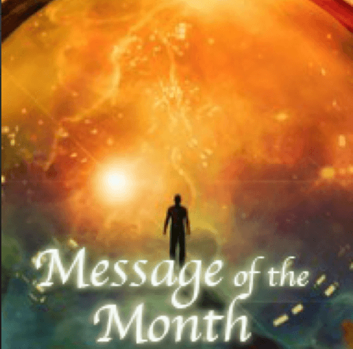 Message of the Month for April Secret to Loving Him cover man walking in globe